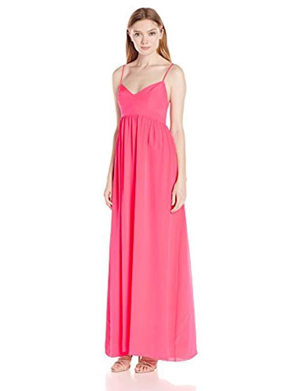 Lyst - Amanda Uprichard Silk Gown Maxi Dress in Pink