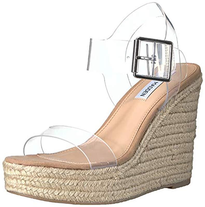 1ee16c6660d Lyst - Steve Madden Splash Wedge Sandal - Save 17%