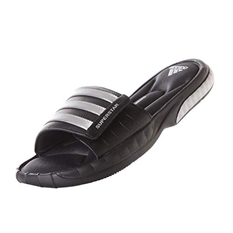 acb18f2a30282 Adidas Black Performance Superstar 3g Slide Sandal for men