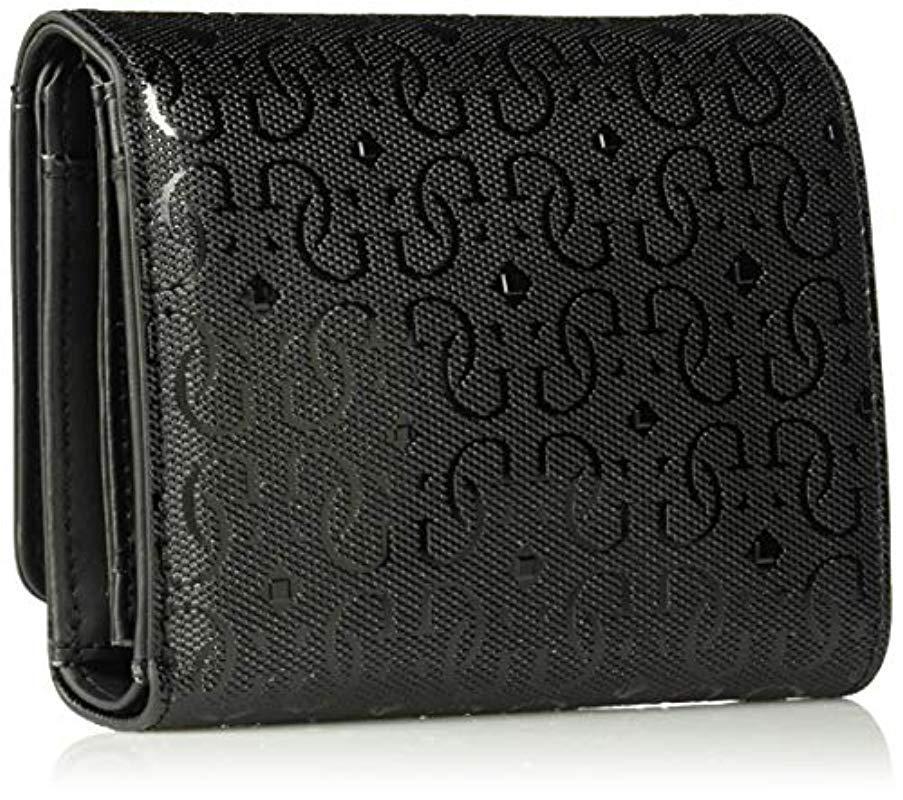 e2ea274a61 Guess - Black Tamra Small Trifold Wallet - Lyst. View fullscreen