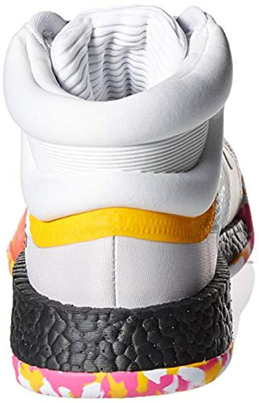 voltereta Montaña Grande  adidas Rubber Marquee Boost Low Basketball Shoe, White/black/active Gold,  9.5 M Us for Men - Lyst