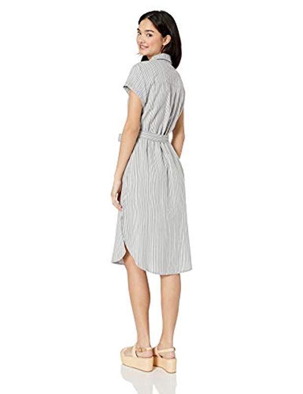 121fee8f1973 Lyst - Roxy Sunday Morning Market Short Sleeve Button Up Dress