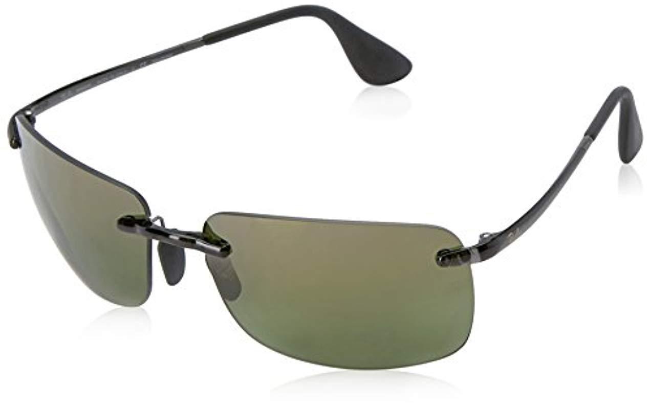 d341391b3 ... ireland lyst ray ban rb4255 chromance lens navigator sunglasses in gray  9c3b6 6d0f6