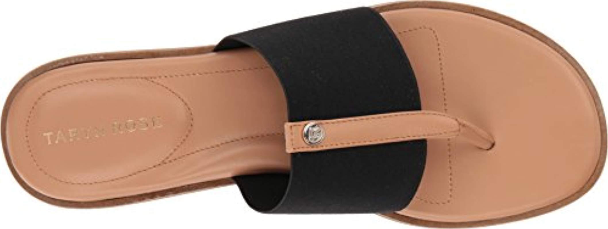 6e924ce94ca Taryn Rose - Black Kamryn Vachetta Flat Sandal - Lyst. View fullscreen