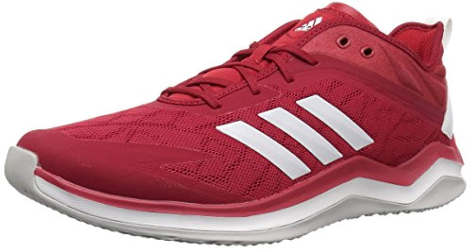 wholesale dealer 20224 6cd28 adidas. Men s Speed Trainer 4 Baseball Shoe, Power Red crystal White scarlet  ...