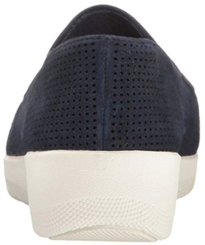 5edcc43ba324 Lyst - Fitflop S Superskate Perf Suede Loafer in Blue - Save 47%
