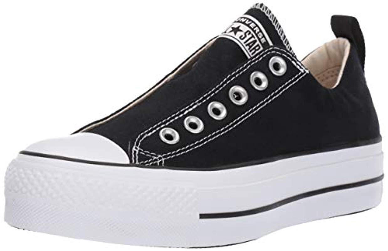 33b380550149 Lyst - Converse Chuck Taylor(r) All Star(r) Lift Slip Ox (black ...