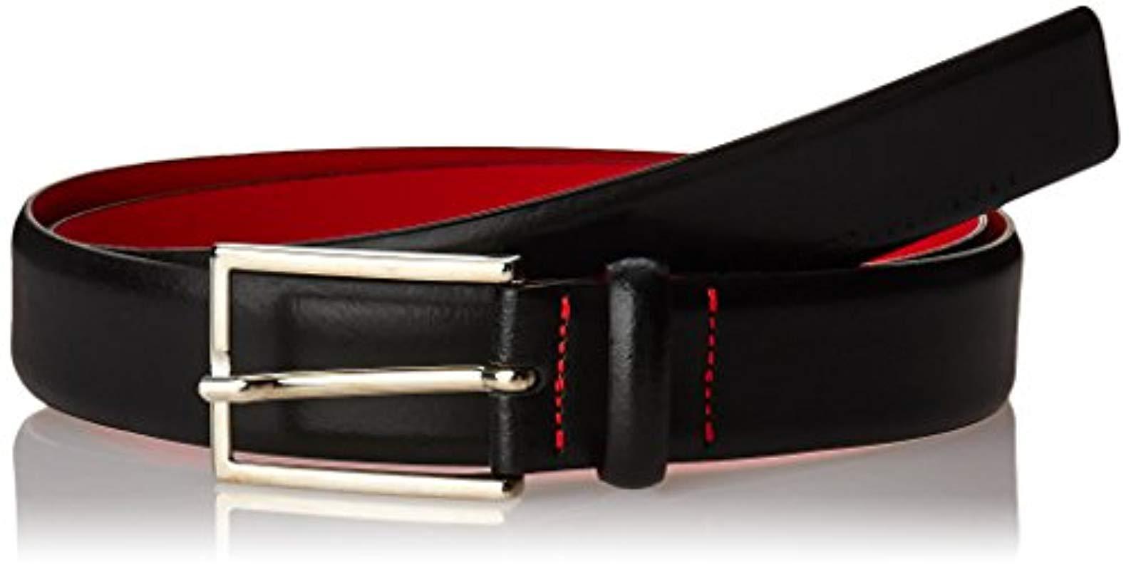 modern style best sneakers speical offer Men's Black Gavrilo Italian Leather Belt