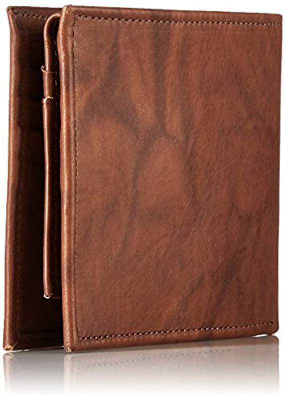 43540a712c69 Ben Sherman - Brown Manchester Full Grain Cowhide Marble Crunch Leather  Passcase Wallet With Flip Up. View fullscreen