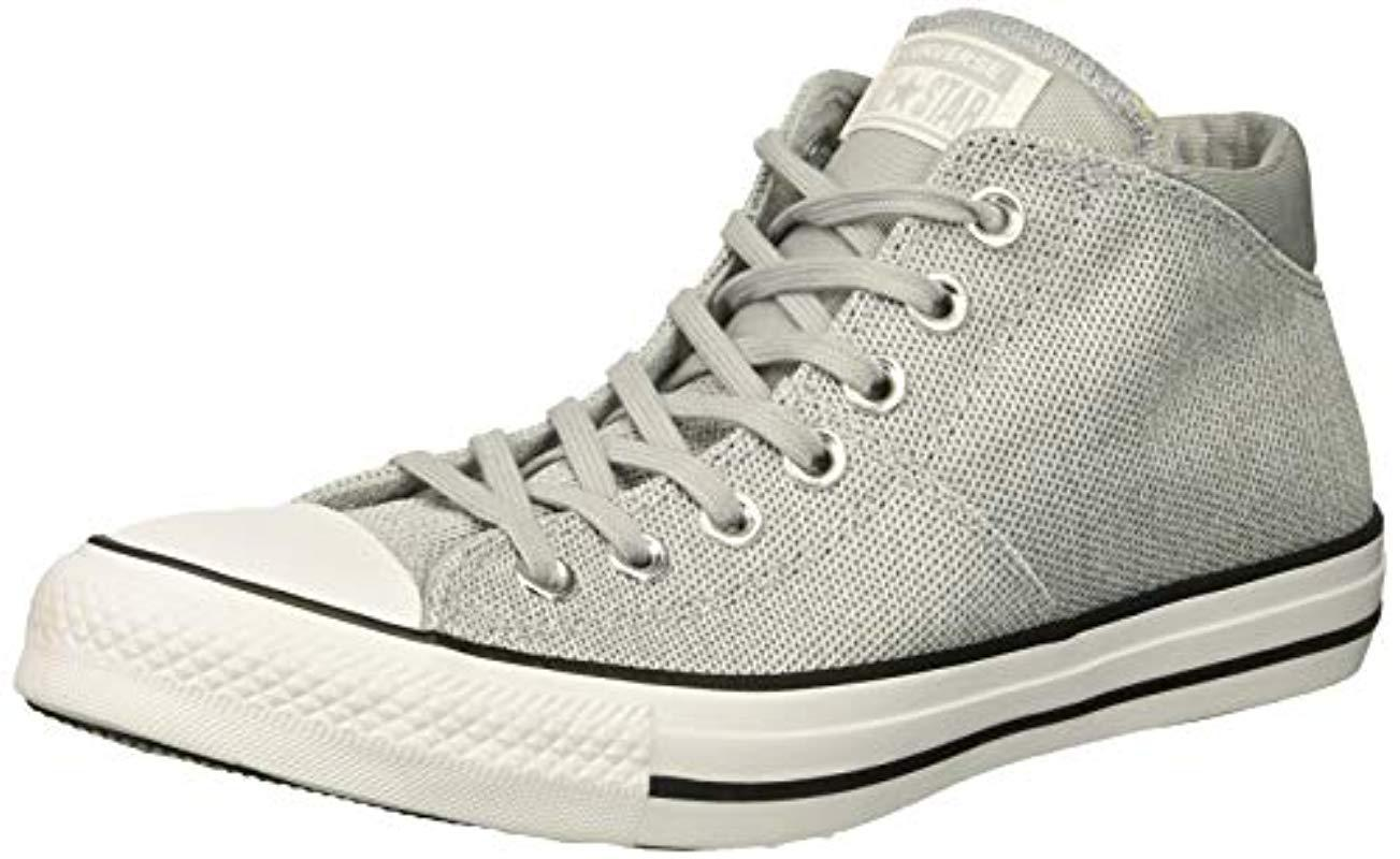 Converse. Gray Chuck Taylor All Star Madison - Mid (wolf Grey white wolf ... 0d3a6b285