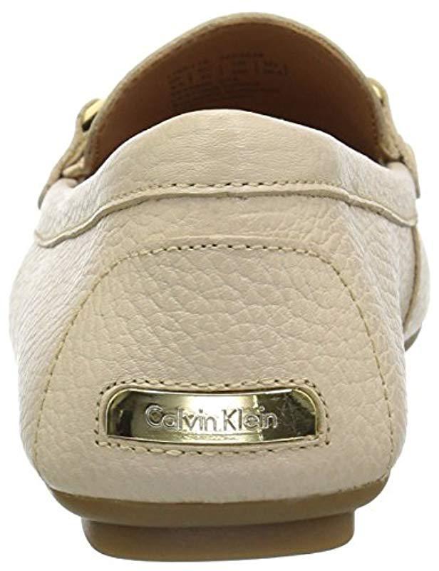 4c1cd2325 Lyst - Calvin Klein Women s Lisette Flats in Natural - Save 51%