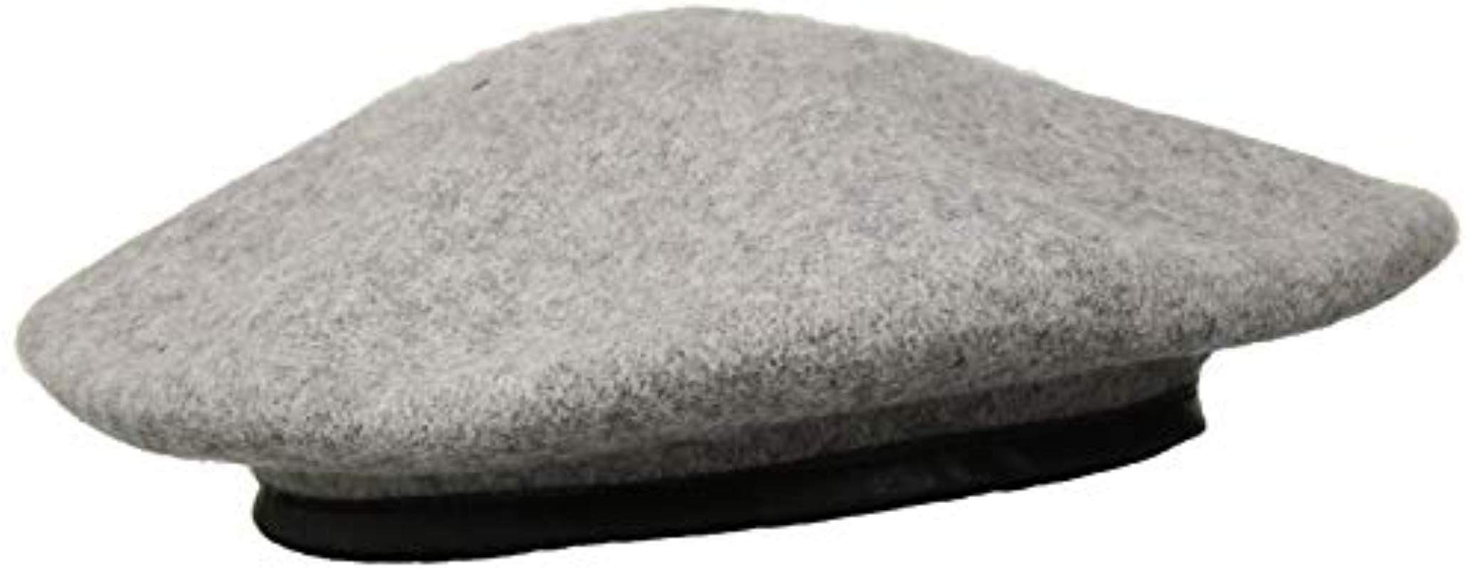 342615d944ee4 Lyst - Vince Camuto Solid Beret With Pu Trim in Gray - Save 16%