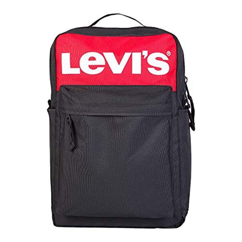 L Pack Backpack Black Logo O S