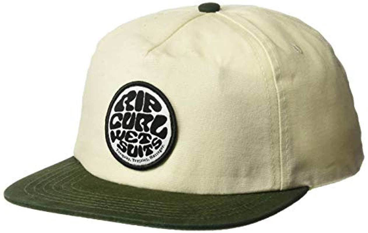 c79ea377a242fe Lyst - Rip Curl Washed Wettie Snapback in Green for Men
