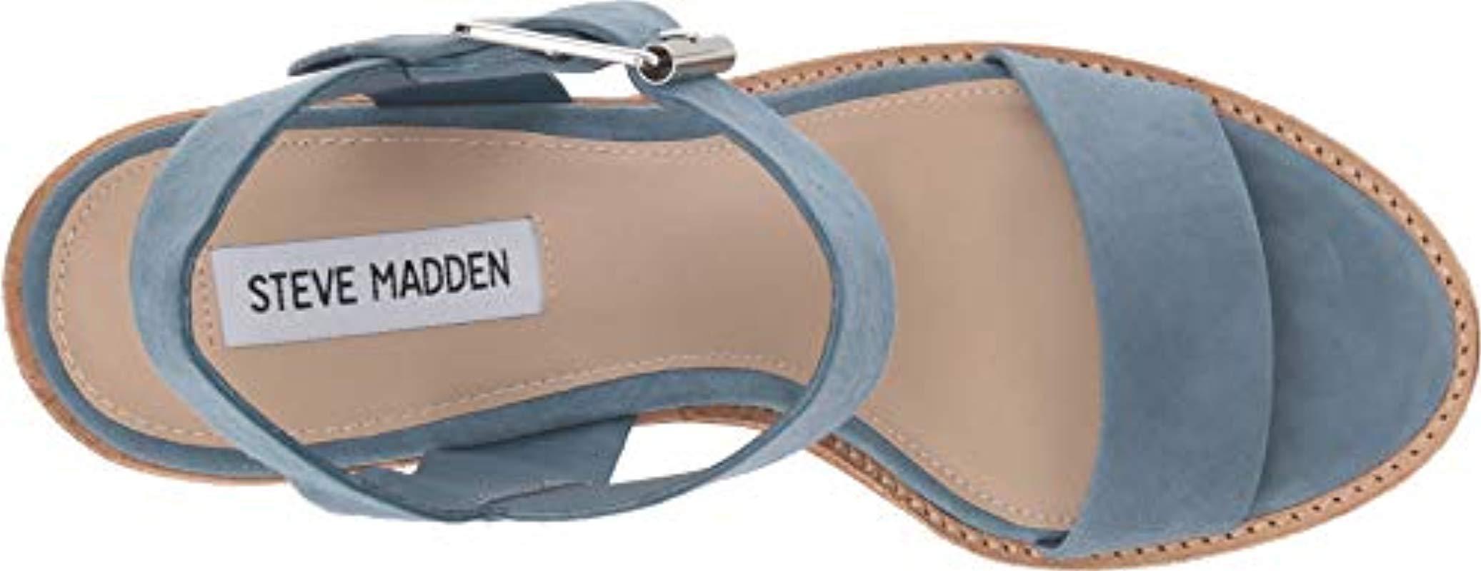 f03c2bb58f5 Steve Madden - Blue Castro Heeled Sandal - Lyst. View fullscreen