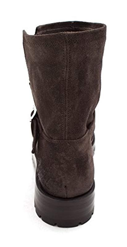 fc34c2ffd13f Frye - Multicolor Natalie Short Engineer Lug (charcoal Soft Oiled Suede)  Women s Pull-