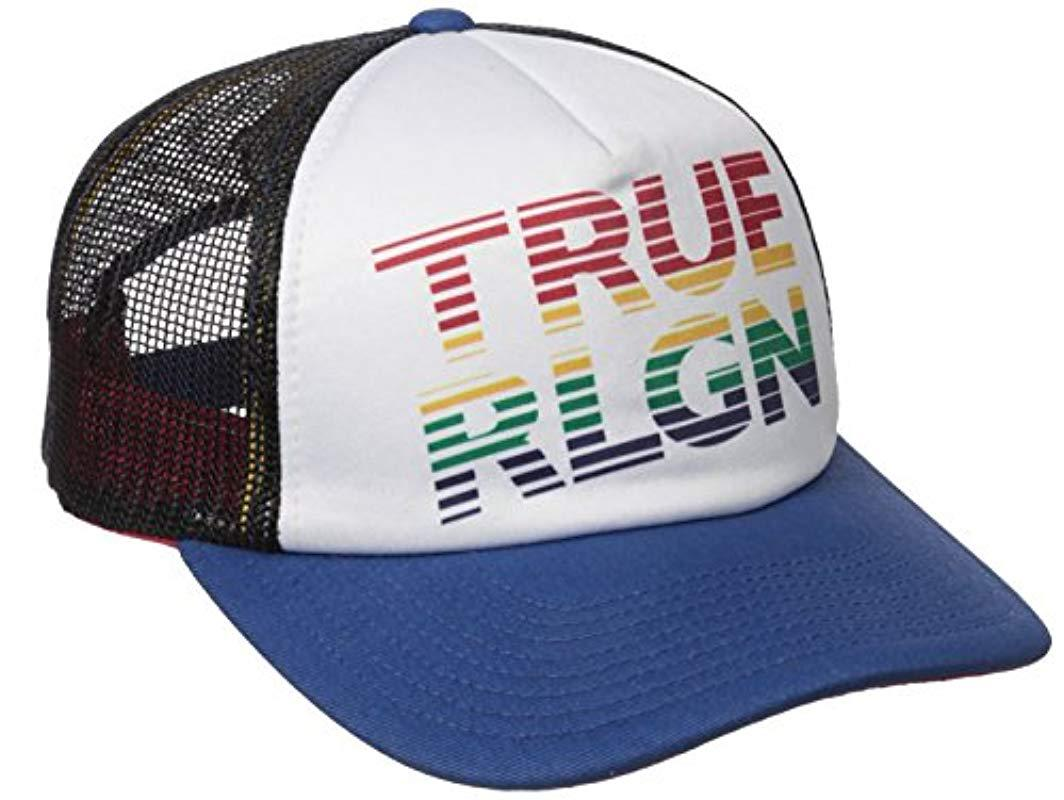 Lyst - True Religion Rainbow Trucker Ball Cap in Blue for Men - Save ... 24d888e2c8f4
