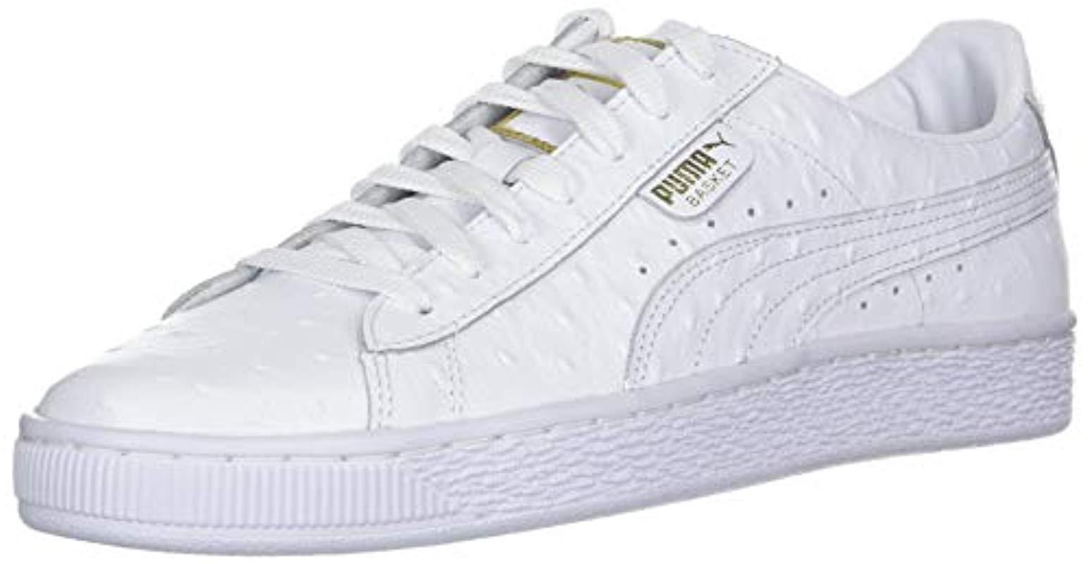 save off eb844 53163 Women's Basket Ostrich Sneaker
