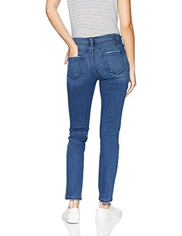 2e4661ec Lyst - Lee Jeans Dream Soft Slim Fit Skinny Leg Jean in Blue