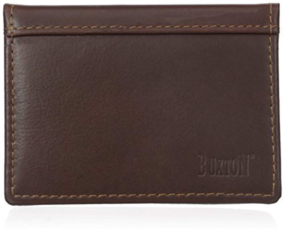 Lyst buxton sandokan business card holder in brown for men buxton mens brown sandokan business card holder colourmoves
