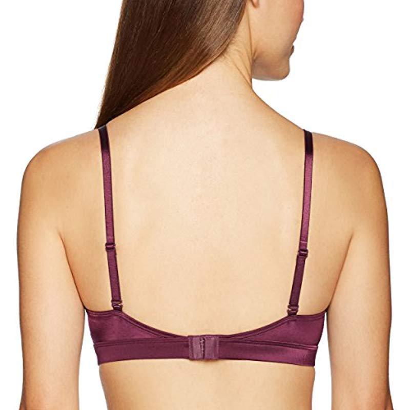 c5e3f245ec164 Mae - Purple Lace Trim Triangle Bralette With Convertible Straps - Lyst.  View fullscreen