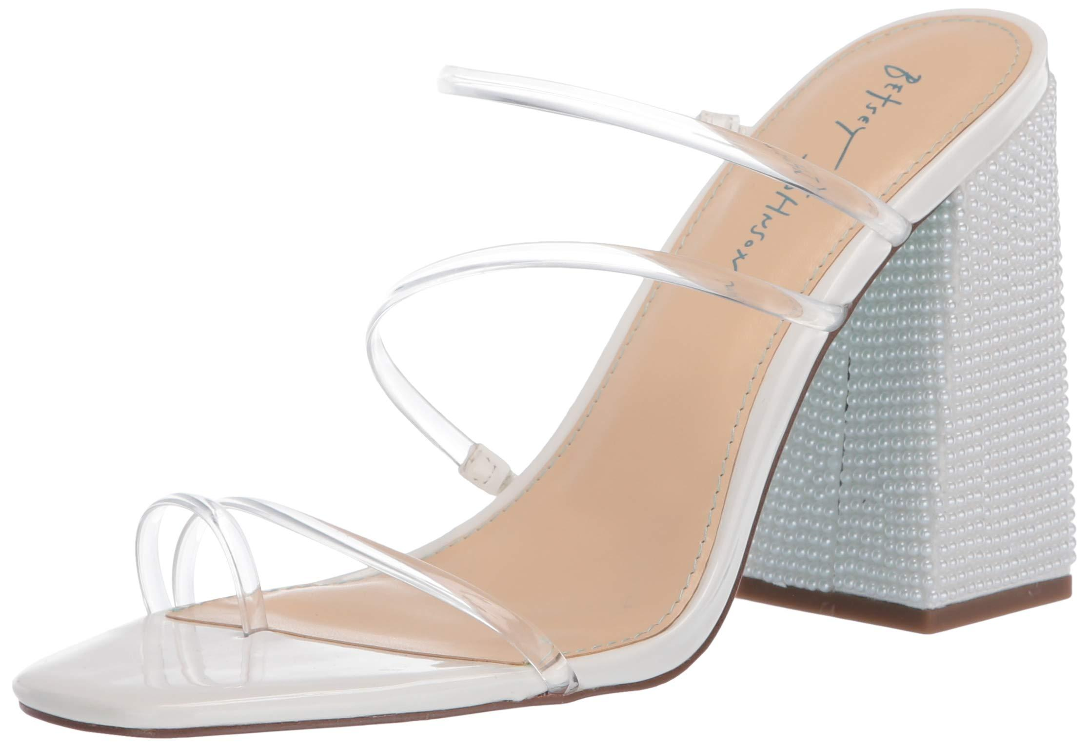 Betsey Johnson Blue Sb-aubri Heeled Sandal in Gold