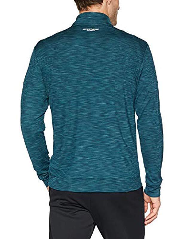 242354db6000 Lyst - Skechers Space Dye Quarter Zip for Men