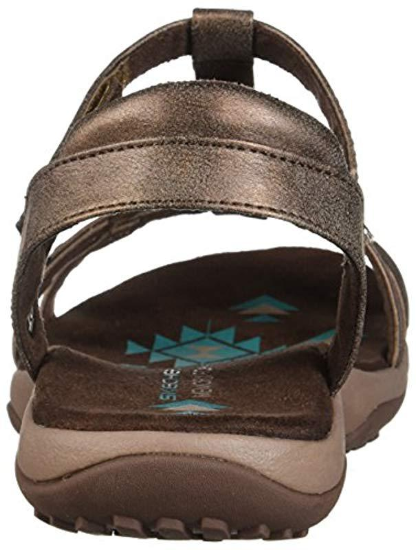 6564565f3077 Lyst - Skechers Reggae Slim-petals-t-band Quarter Strap Sandal in Brown