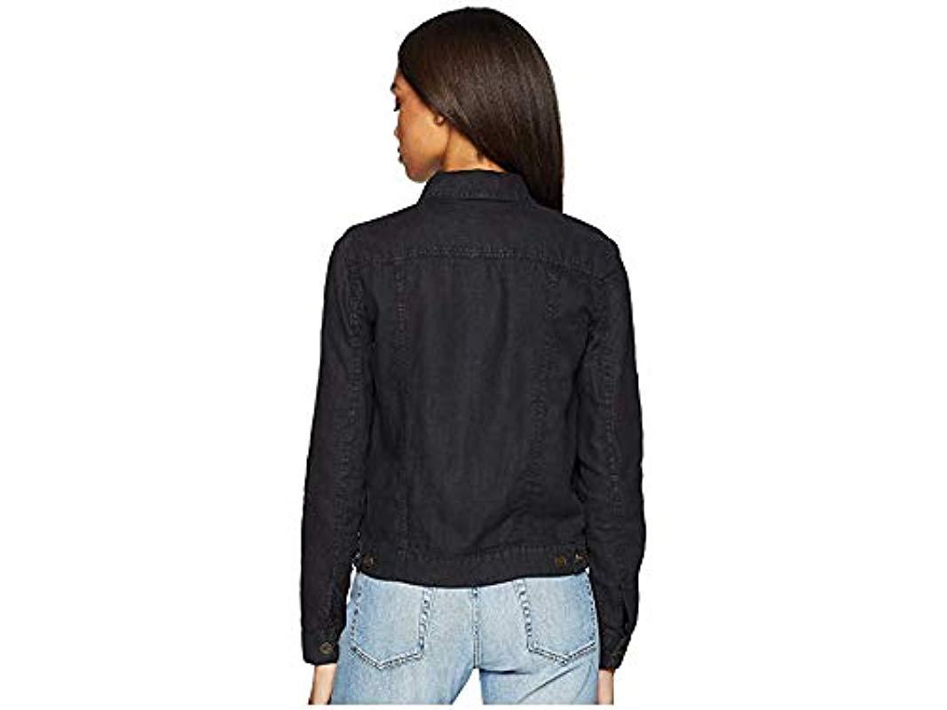 hot-selling cheap sale usa online unparalleled Michael Stars Woven Linen Jean Jacket in Black - Lyst