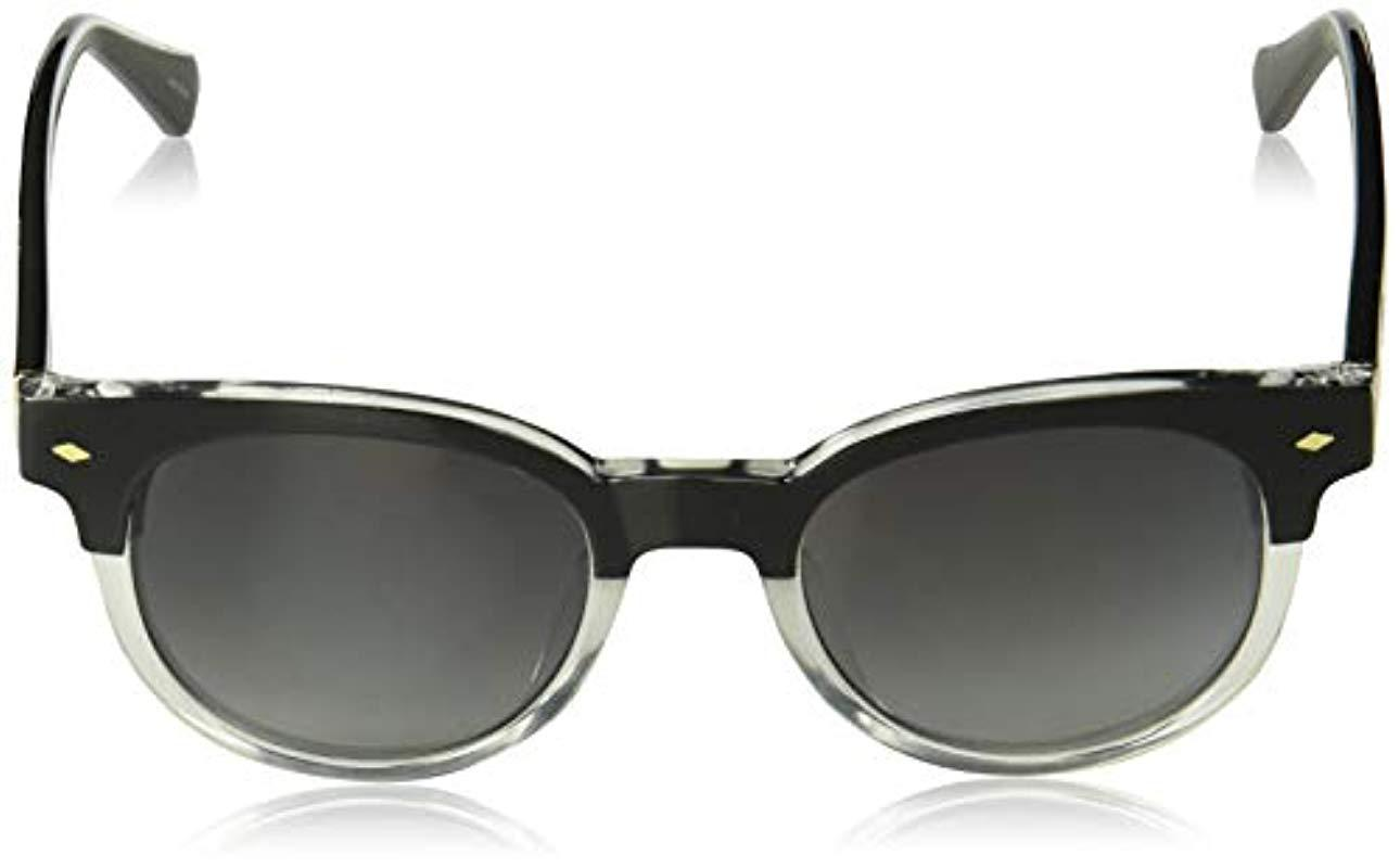 Fossil Mens Fos 3072//s Round Sunglasses Black Crystal 49 mm