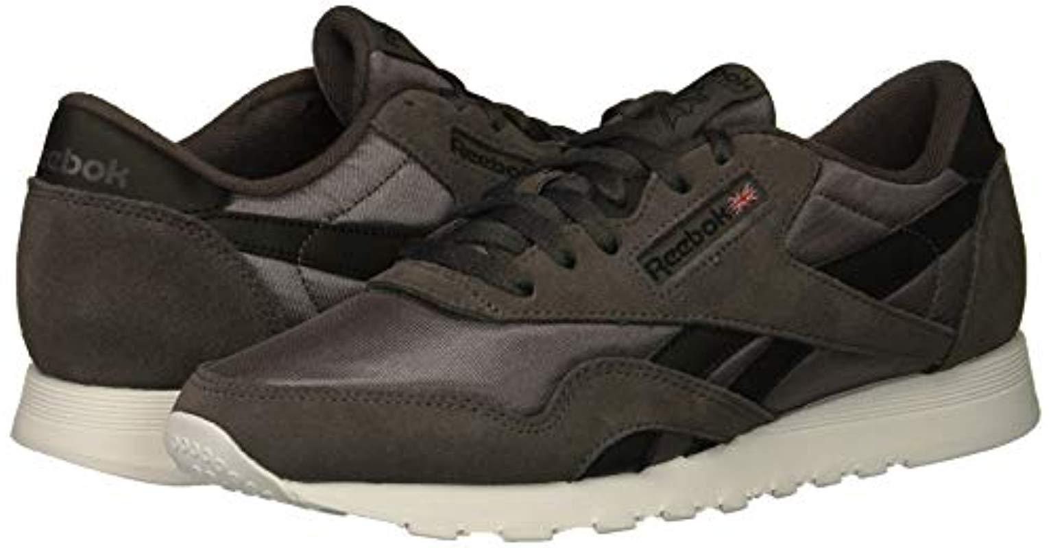 Men's Classic Nylon Sneaker, Ash Greyblackwhite, 6 M Us