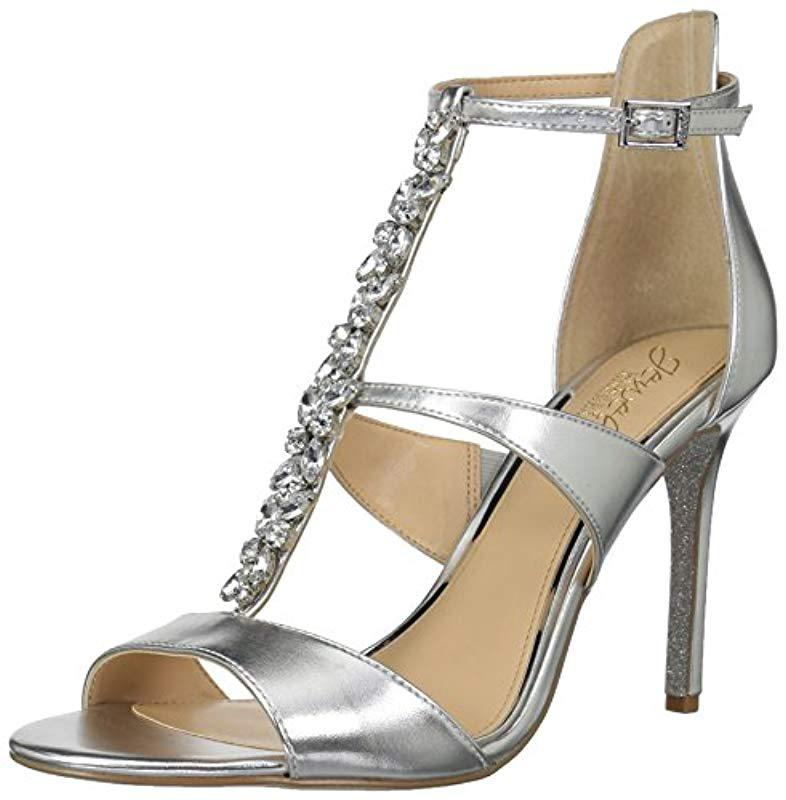 4021779b637 Lyst - Badgley Mischka Mica Heeled Sandal in Metallic