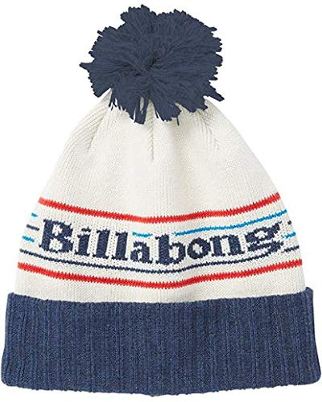 cab4a11c30b6c Billabong - Blue Denali Beanie for Men - Lyst. View fullscreen