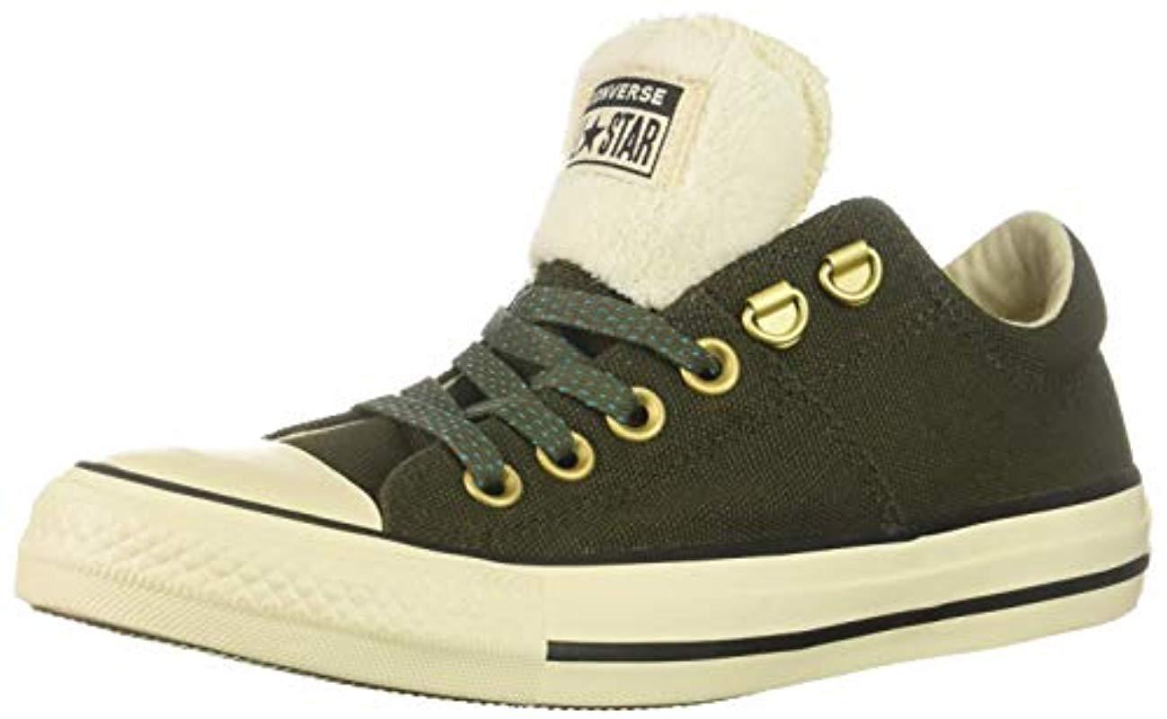 5ec1d86109 Women's Green Chuck Taylor All Star Faux Fur Madison Low Top Sneaker