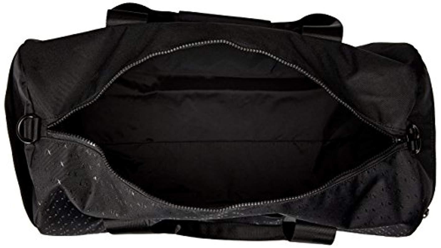 ce0c41c9a8a5 Armani Exchange Black Rmni Exchnge Light Weight Dobby Nylon Ll Over Logo  Duffle Weekender Bg, Blck, One Size for men