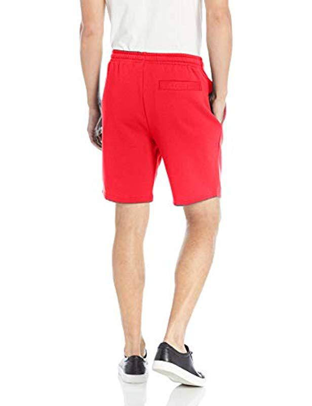 62d0b11e0f59e2 Lyst - Lacoste Sport Tennis Fleece Shorts in Red for Men - Save 30%