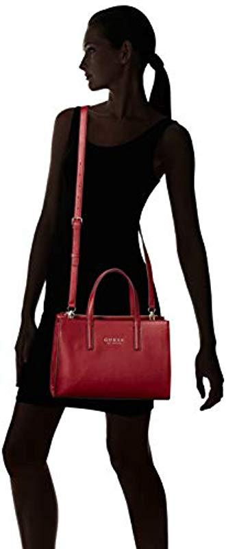 Guess - Red Sienna 2 In 1 Society Satchel - Lyst. View fullscreen 5d3ca0e959