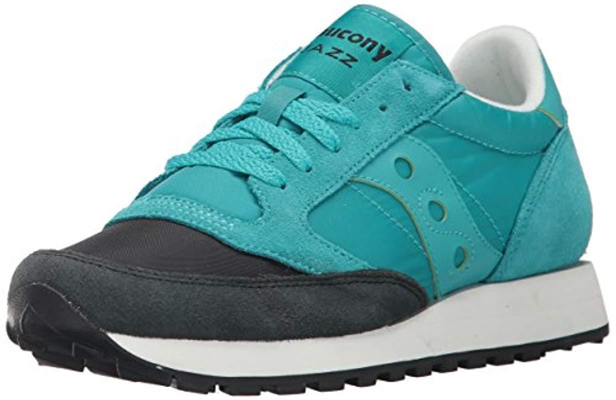 a208c1f89 Saucony. Women's Blue Originals Jazz Original Sneaker, Coral Cream ...