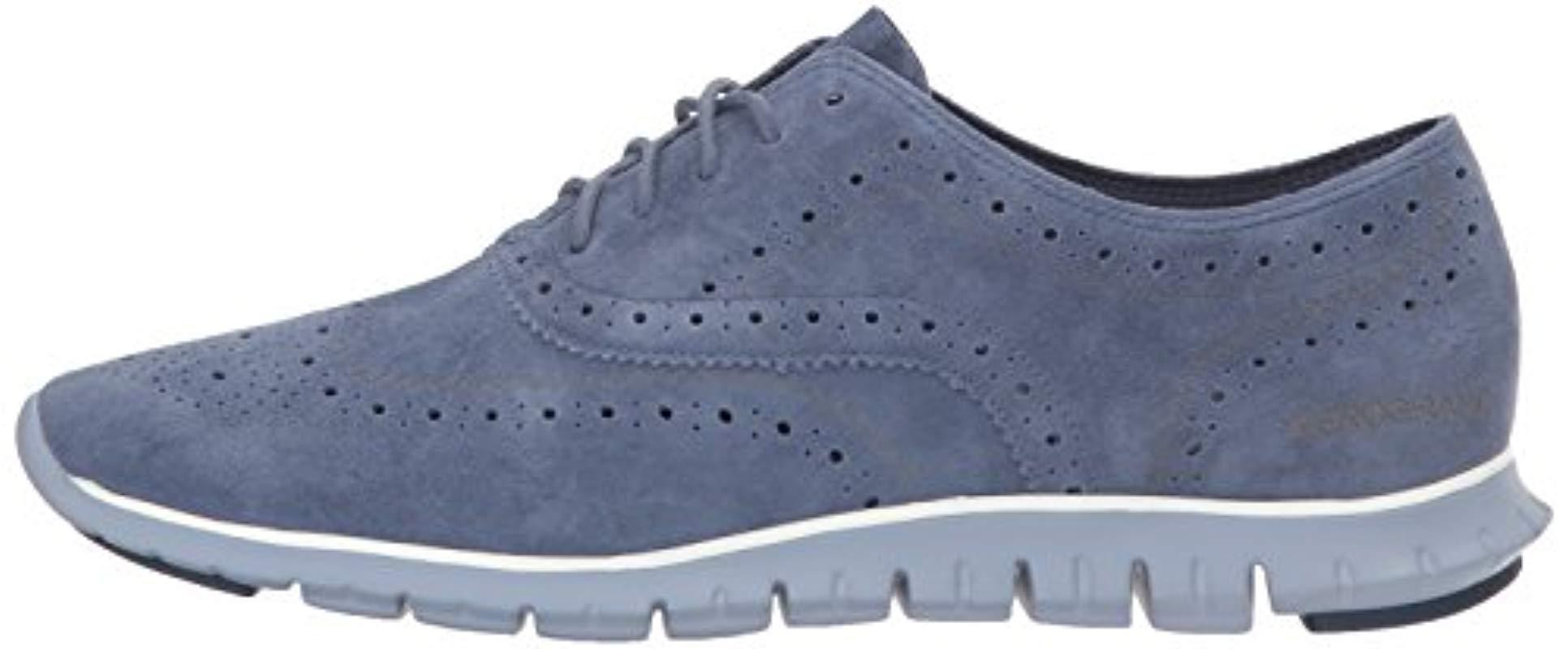 b1fa1bc382 Cole Haan Zerogrand Wing Ox Open Hole Oxford in Blue - Save 35% - Lyst
