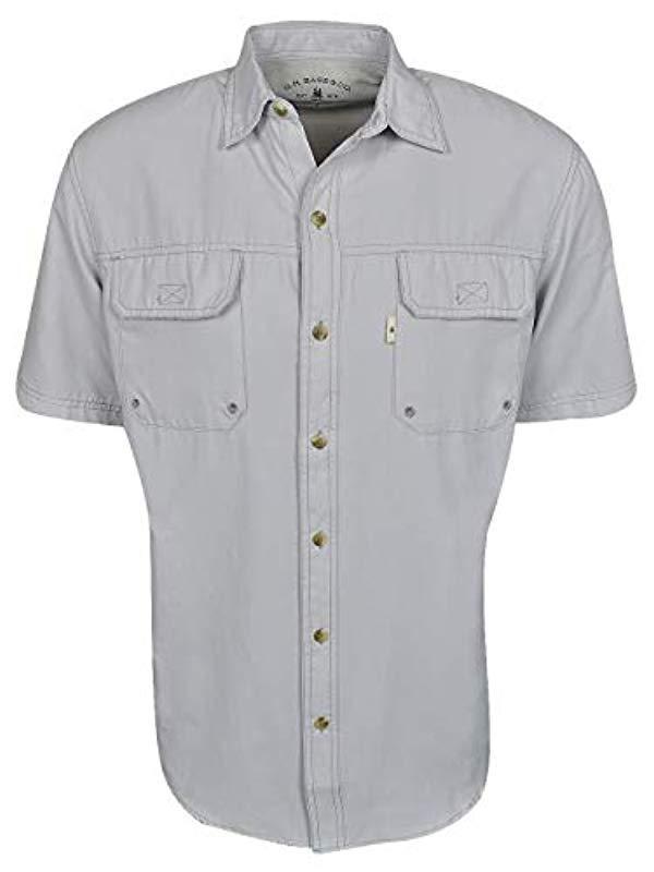 51b4144feaa Lyst - G.H.BASS Explorer Short Sleeve Fishing Shirt in Gray for Men