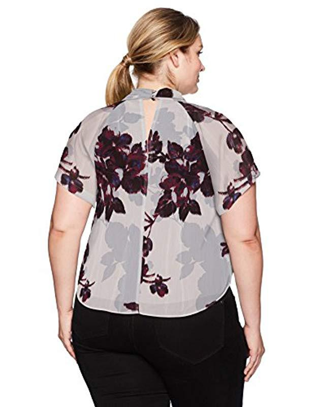 a1b169187ba2e Lyst - RACHEL Rachel Roy Plus Size Chiffon Kimono Top
