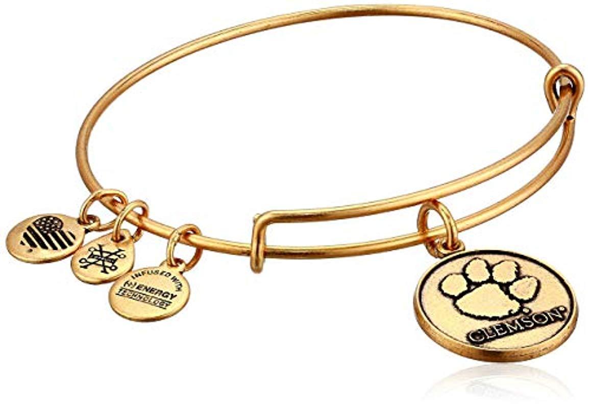 ALEX AND ANI Clemson University Logo Rafaelian Silver Bracelet.