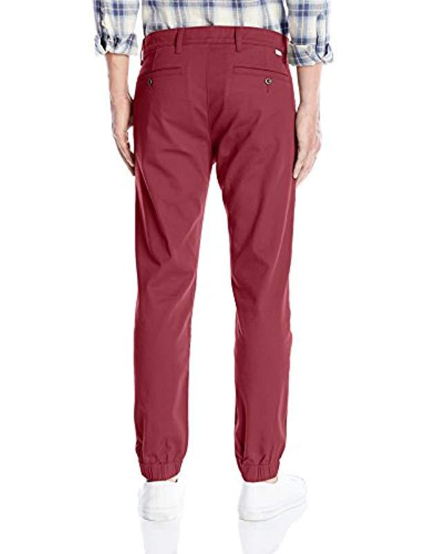 a245a312650e Lyst - Levi s Chino Jogger Pant in Red for Men