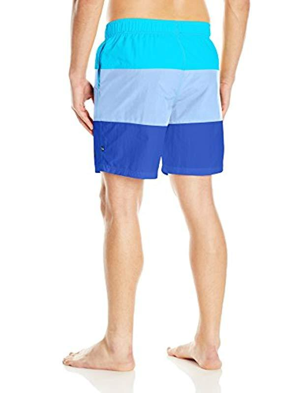 39c27053bd Lyst - Nautica Standard Quick Dry Color Block Swim Trunk, Calypso Blue,  Small in Blue for Men