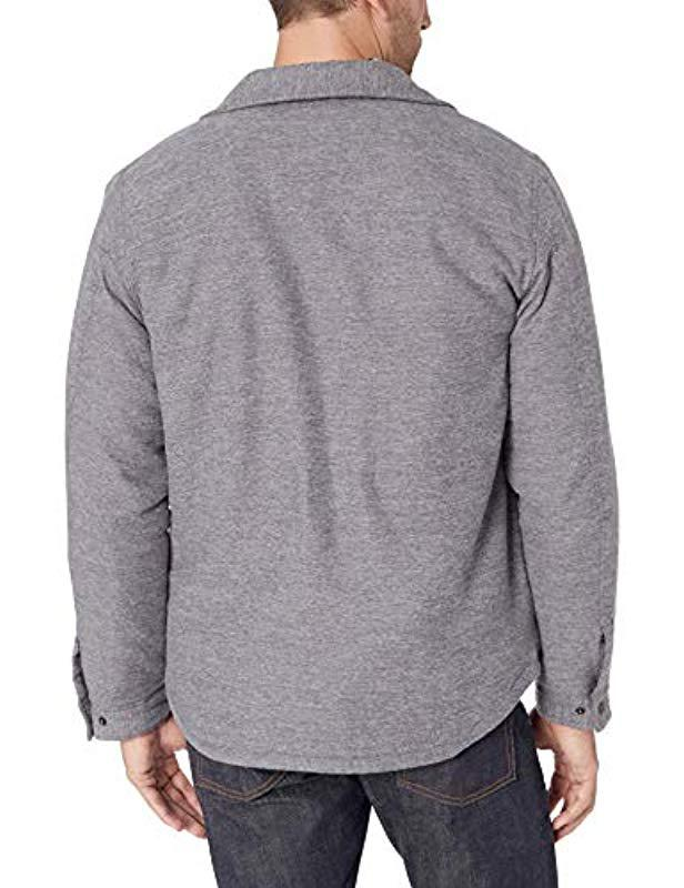 18640f3b07 Lyst - Levi s Sherpa Lined Soft Shirt Jacket in Gray for Men