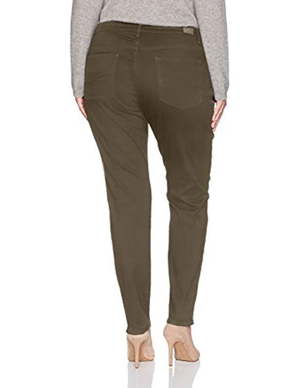 804dde6a Lee Jeans Plus-size Slimming Fit Rebound Skinny Leg Jean in Green - Save  13% - Lyst