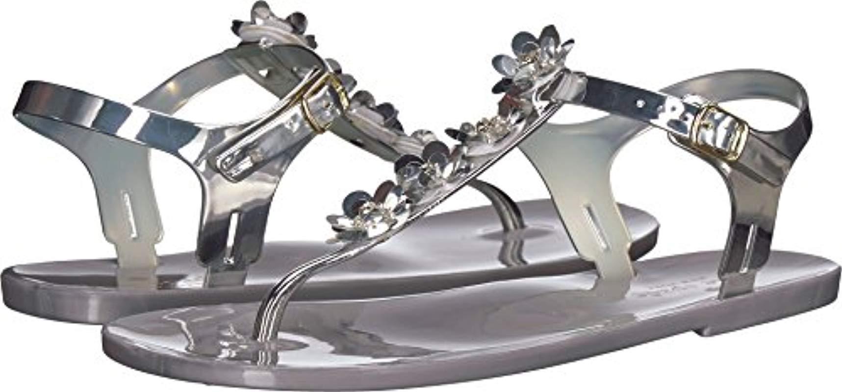 578355d3f8ca Lyst - Kate Spade Farrah Flat Sandal in Metallic - Save 11%