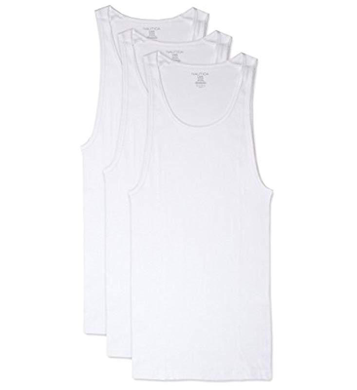 13eededf Lyst - Nautica Comfort Cotton A Shirt Tank in White for Men - Save 4%