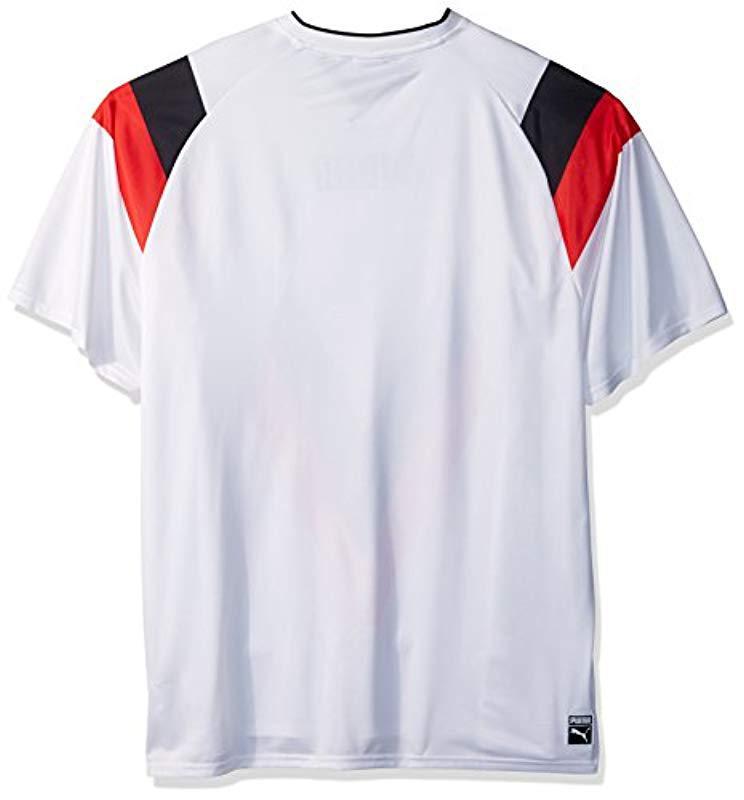fed108b6186 PUMA - White Heritage Football T-shirt for Men - Lyst. View fullscreen