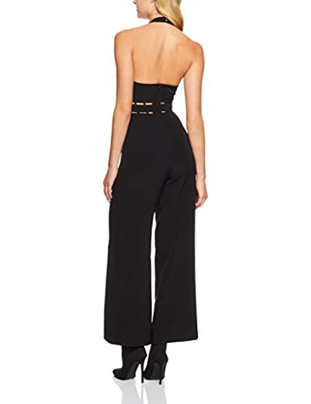 c73c1b450307 Lyst - Finders Keepers Solar Halter Jumpsuit in Black - Save  12.68656716417911%